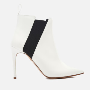 Rupert Sanderson Women's Critic Patent Heeled Shoe Boots - White