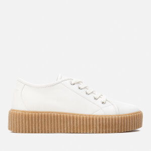 MM6 Maison Margiela Women's Flatform Trainers - White