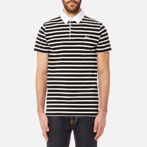 Maison Kitsuné Men's Marin Polo Shirt - Black Ecru