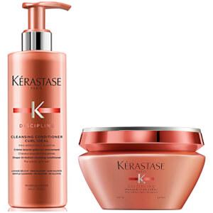 Kérastase Discipline Cleansing Conditioner Curl Idéal 13.5oz & Curl Idéal 6.8oz