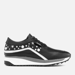 Karl Lagerfeld Women's Vivace Leather Celestia Mix Runner Trainers - Black