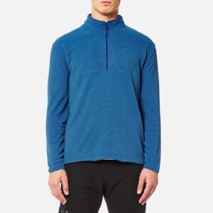 Jack Wolfskin Men's Arco 1/4 Zip Fleece - Royal Blue Stripes