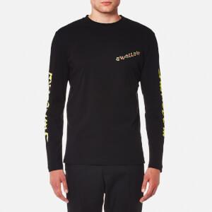 McQ Alexander McQueen Men's Electric Swallow Long Sleeve T-Shirt - Darkest Black