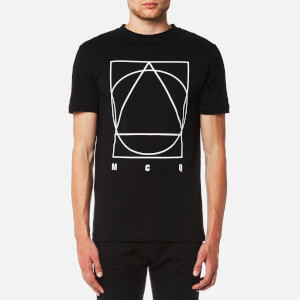 McQ Alexander McQueen Men's Band Icon Curtis Short Sleeve Crew T-Shirt - Darkest Black