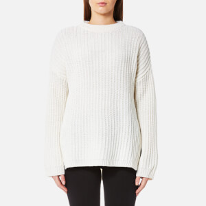 Levi's Women's Oversized Rib Crew Neck Jumper - Marshmallow
