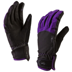 Sealskinz Women's All Season Gloves - Black/Purple