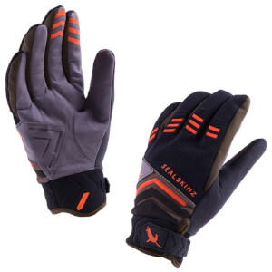 Sealskinz Dragon Eye MTB Gloves - Black/Olive/Orange