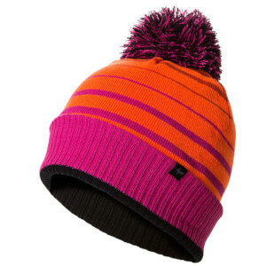 Sealskinz Waterproof Bobble Hat - Orange/Pink/Black