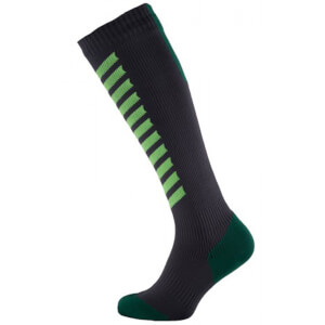 Sealskinz MTB Mid Knee Socks - Anthracite/Lime