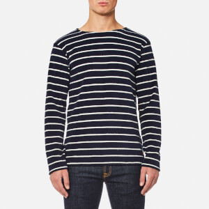 Armor Lux Men's Towelling Long Sleeve Stripe Top - Seal Nature