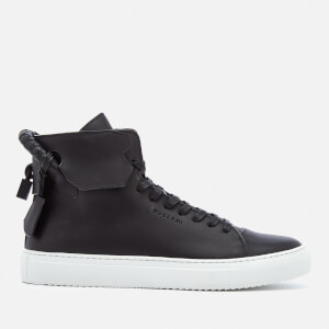 Buscemi Men's 125MM Weave High Top Trainers - Black/Black