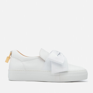 Buscemi Women's 40MM Bow Skate Trainers - White