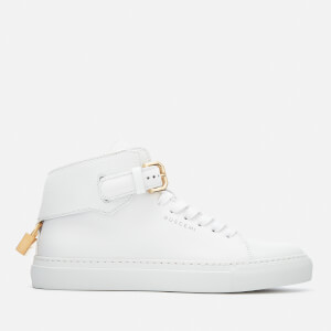 Buscemi Women's 100MM Buckle Hi-Top Trainers - White/White