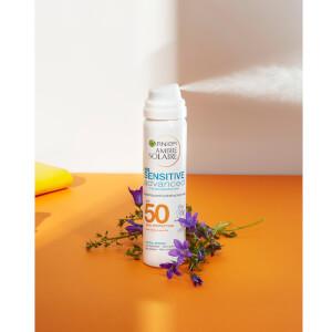 Ambre Solaire Sensitive Hydrating Hypoallergenic Face Sun Cream Mist SPF50 75ml: Image 2