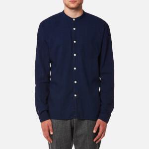 Oliver Spencer Men's Grandad Shirt - Kildale Indigo Rinse
