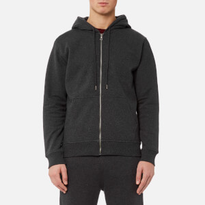 A.P.C. Men's Locker Zipped Hooded Sweatshirt - Anthracite Chine