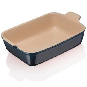 Le Creuset Stoneware Medium Heritage Rectangular Roasting Dish - Ink