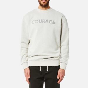 Maison Kitsuné Men's Courage Sweatshirt - Ecru Melange