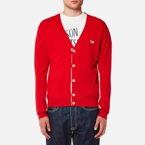 Maison Kitsuné Men's Virgin Wool Classic Cardigan - Red