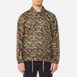 Maison Kitsuné Men's All-Over Camo Fox Foldable Bertil Windbreaker - Multicolor