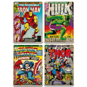 Marvel Comics Set of 4 Large Coasters