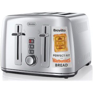 Breville The Perfect Fit for Warburtons VTT571 4-Slice Toaster - Stainless Steel