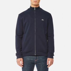 Lacoste Men's Zipped Sweatshirt - Navy Blue/Multico