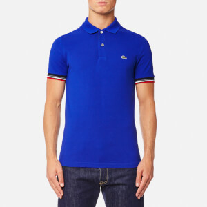 Lacoste Men's Tipped Sleeve Polo Shirt - Steamer