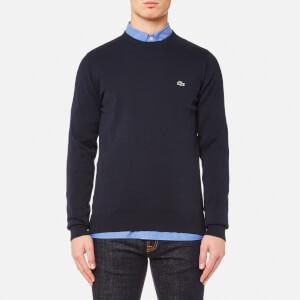 Lacoste Men's Crew Neck Knit Sweatshirt - Navy Blue