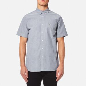 Lacoste Men's Plain Short Sleeve Shirt - Navy Blue/White