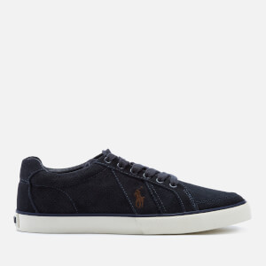 Polo Ralph Lauren Men's Hugh Perforated Suede Low Top Trainers - Dark Navy