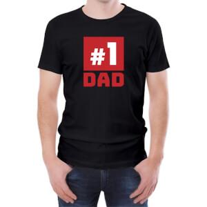 T-Shirt Homme Papa Numéro Un -Noir