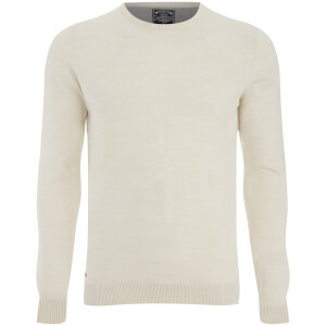 Kensington Men's Basic Crew Neck Jumper - Oat Marl
