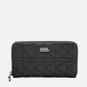 Karl Lagerfeld Women's K/Kuilted Zip Wallet Core - Black