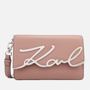 Karl Lagerfeld Women's K/Metal Signature Shoulder Bag - Ballet