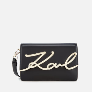 Karl Lagerfeld Women's K/Metal Signature Shoulder Bag - Black