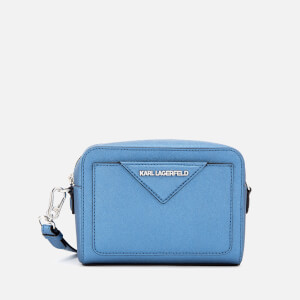 Karl Lagerfeld Women's K/Klassik Camera Bag - Metallic Light Blue