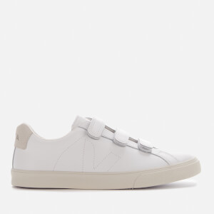Veja Women's 3-Lock Leather Trainers - Extra White