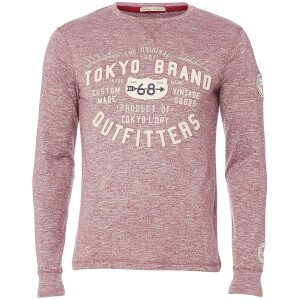 Tokyo Laundry Men's Timperley Jersey Long Sleeve Top - Oxblood