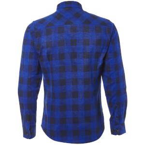 Tokyo Laundry Men's Alhambra Flannel Long Sleeve Shirt - Navy: Image 2