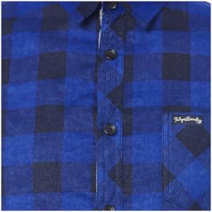 Tokyo Laundry Men's Alhambra Flannel Long Sleeve Shirt - Navy: Image 3