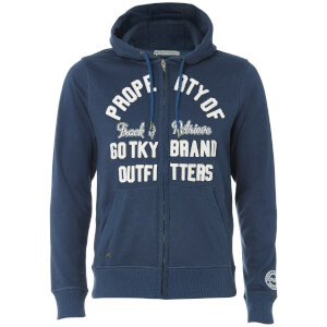 Tokyo Laundry Men's Snohaus Grindle Zip Through Hoody - Medieval Blue