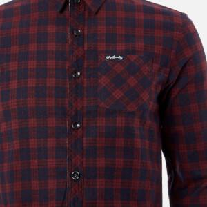 Tokyo Laundry Men's Glendale Flannel Long Sleeve Shirt - Red: Image 4