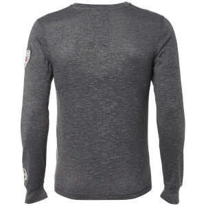 Tokyo Laundry Men's Timperley Jersey Long Sleeve Top - Charcoal: Image 2