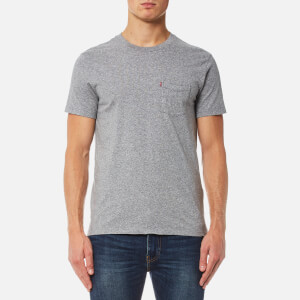 Levi's Men's Short Sleeve Set-In Sunset Pocket T-Shirt - Medium Grey Heather