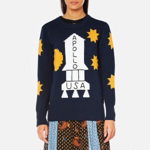 Coach Women's Space Intarsia Sweatshirt - Navy