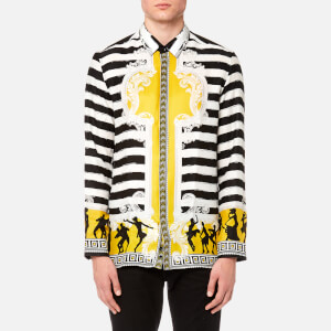 Versace Collection Men's All Over Print Shirt - Senape