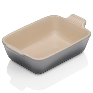 Le Creuset Stoneware Small Heritage Rectangular Roasting Dish 19cm - Flint