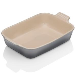 Le Creuset Stoneware Large Heritage Rectangular Roasting Dish 32cm - Flint