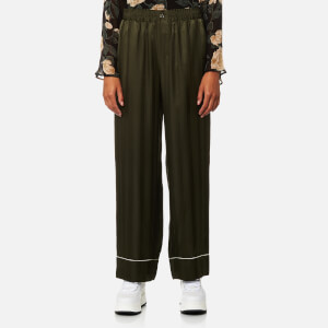 Ganni Women's Loring Silk Trousers - Rosin